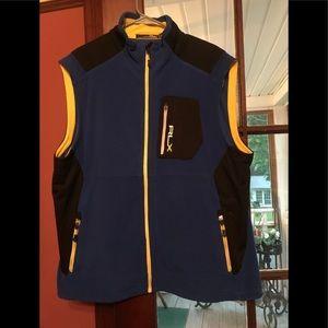 2XL Black/Blue/Yellow Ralph Lauren Polo Vest